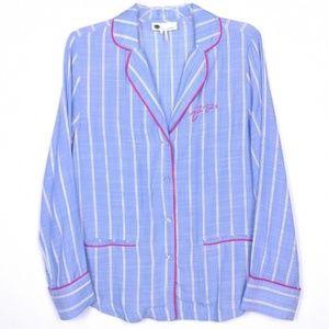 NWOT Anthro Floreat Sweetly Striped Pajama Top